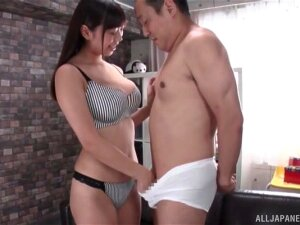 Adorable Kiritani Matsuri Pleasures Her Man With A Titjob. HD Porn