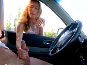 Cute Petite Teen Gives Me Hot Handjob At Public Parking Lot. Mia Bandini Porn