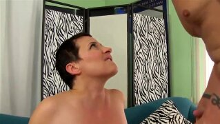Mature Honey Kali Karinena Is Fucked in Her Mouth and Pussy by a Long Dicked Schlub