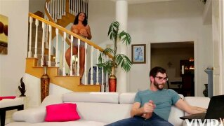 Vivid . com - MILF Stepmom catches her son jerking off