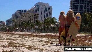 Reality Kings - We Live Together - Babes In Bikinis - Brandi Bae , Kenzie R