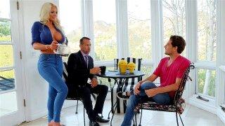 Blonde mom Nicolette Shea seduces her stepson