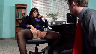 Mercedes Carrera spreads her legs to show off her wet pussy