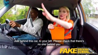 """""""Fake Driving School Long black cock pleases busty blonde examiner"""""""