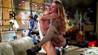 Karlie Montana having an intense female orgasm as she takes it deep