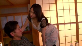Japanese MILF dominates stepson and orders him to fuck