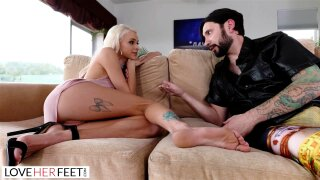 Sneaky Foot Sex With Bandmates Perfect Blonde Groupie