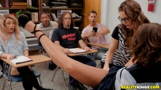 Slutty Sex Ed Teachers Starring Adriana Chechik and Kimmy Granger - Reality Kings HD