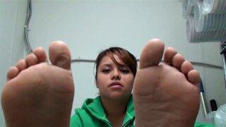Wide latina feet