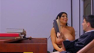 """""""Brazzers - Big tit milf Romi Rain gets her thicc ass judged by young big co"""""""