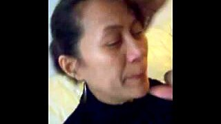 """Amateur chinese milf quick blowjob amp facial before work"""