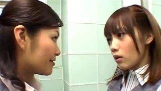 Japanese lesbian girl with big nipples