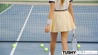 TUSHY First Anal For Tennis Student Aubrey Star. Aubrey loves her tennis lessons, purely because she fanta###es about fucking her sexy tennis coach.  Today her parents are not at home, and it is the perfect time to tell him exactly how she feels