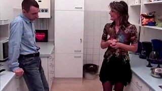 Dirty German Milf Gets Anal Fucked In The Kitchen