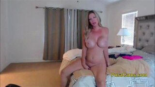 Hot blonde mature woman, beautiful and hot as fuck is live now and she plays with her big tits and shaved pussy while talking so fucking dirty! She is just pro dirty mom!