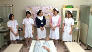 JAV CMNF nurses strip naked for patient Subtitles