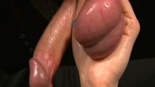 femdom gloryhole handjob huge testicles full of cum