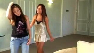 Highly Erotic Silky Teen Girls Lesbian Seduction In Bed