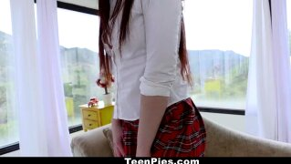 TeenPies - Virgin Schoolgirl Scarlett Mae Gets Creampied